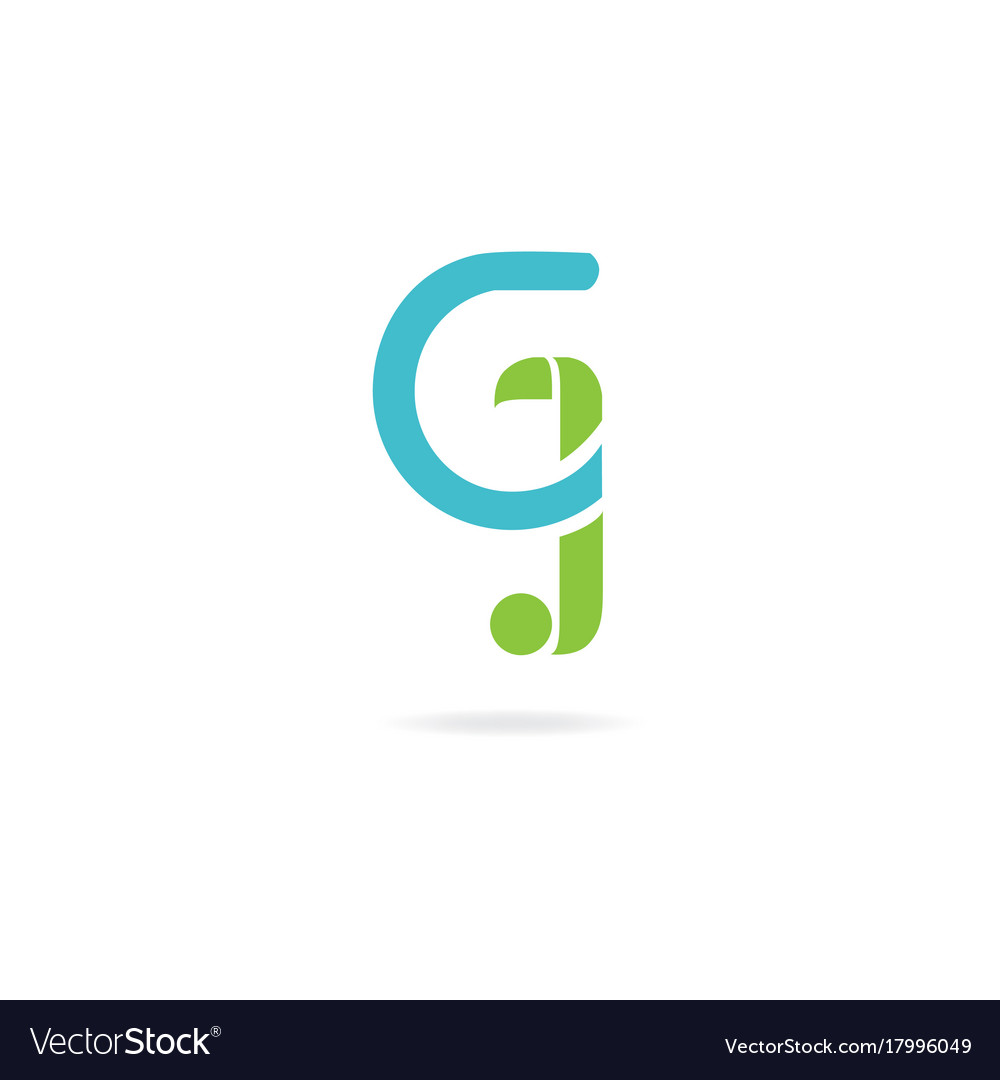 Letter J And G Logo Icon Design Template Elements Vector Image