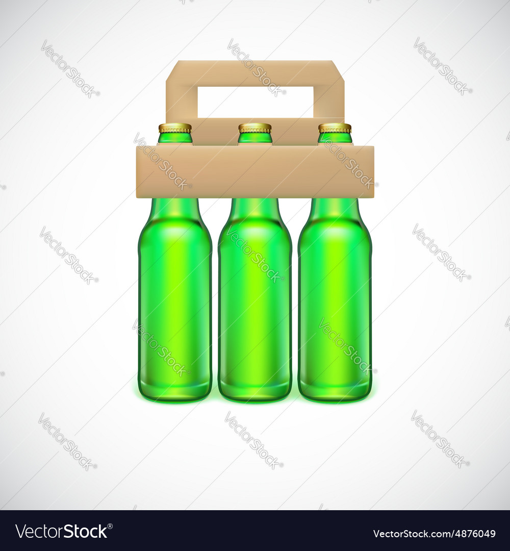 Packaging Of Beer Vector Image