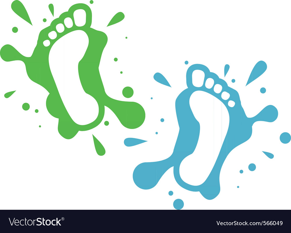 Splatter steps vector