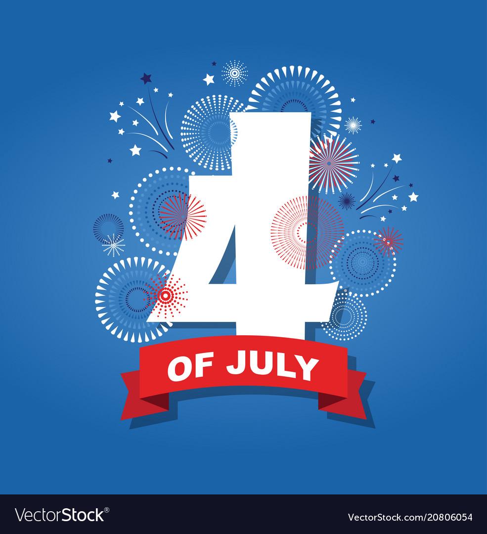 4th july fireworks background celebration usa