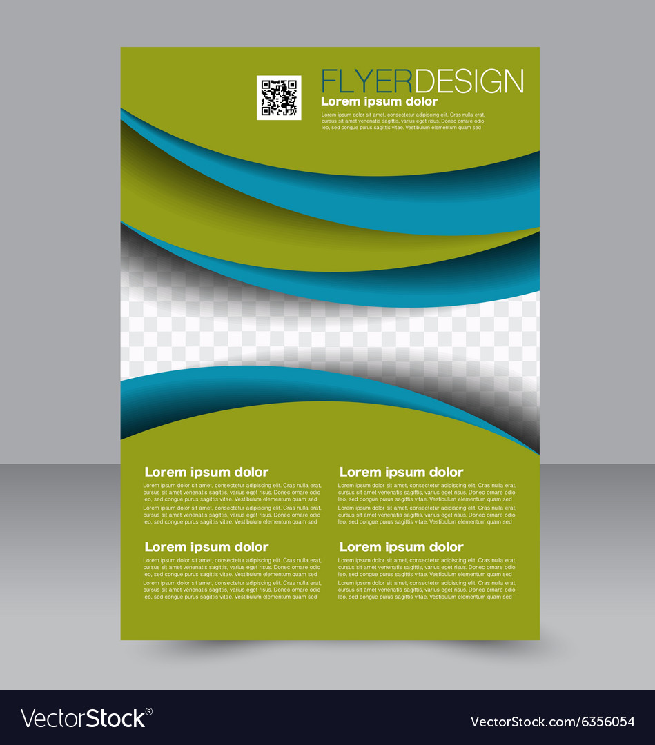 brochure template business flyer editable a4 vector image