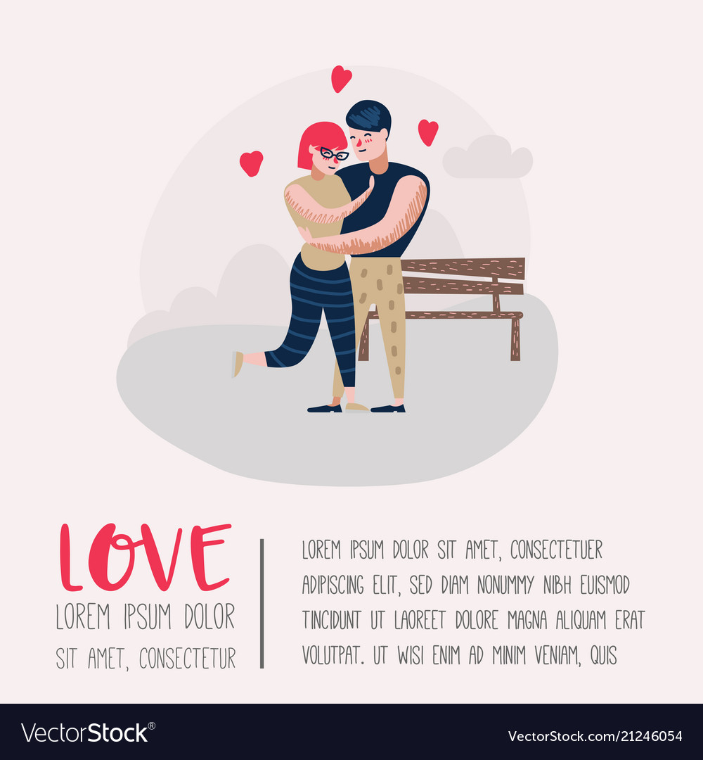 Couple in love characters for poster banner