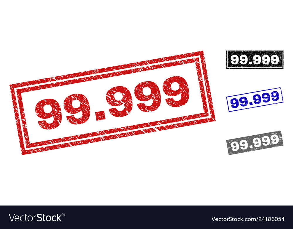 Grunge 99999 scratched rectangle watermarks
