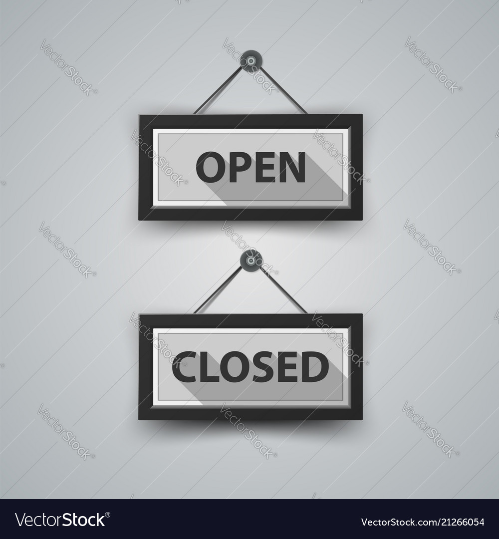 Open and closed icon with shadow