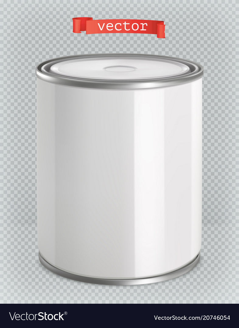 Packaging building and sanitary white tin of