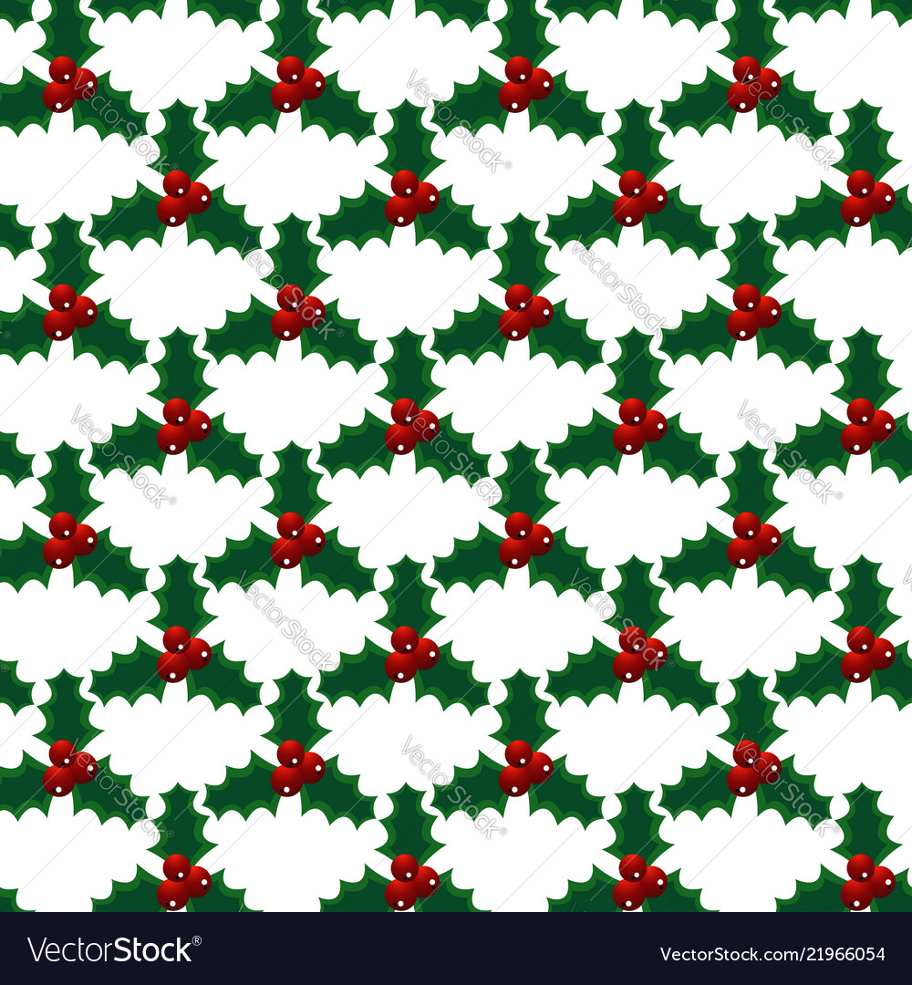 Seamless christmas mistletoe bright art