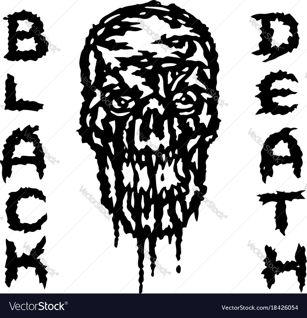 Skull is bleeding black death