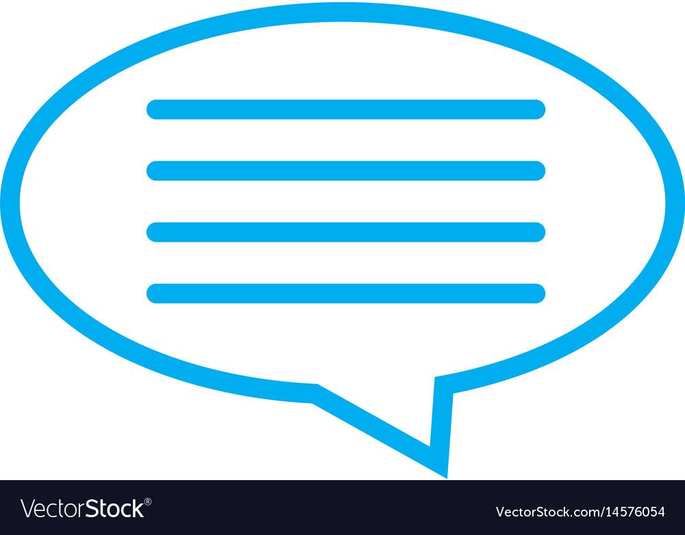 Speech bubble icon on white background speech