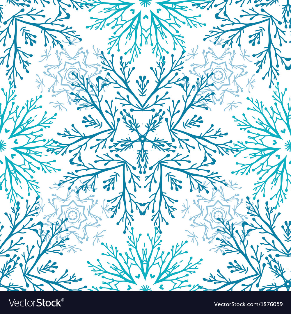 Abstract branches vignettes seamless pattern