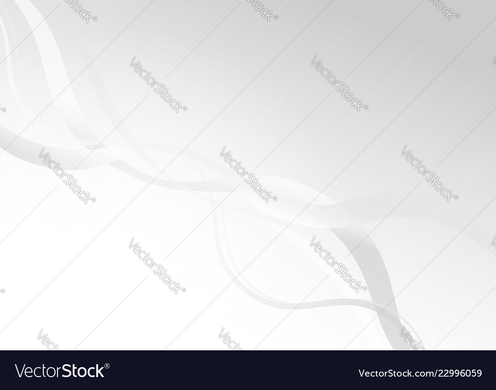 Abstract gray curve on white background with light