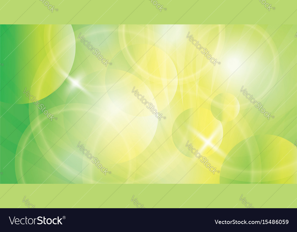 Green yellow background vector image