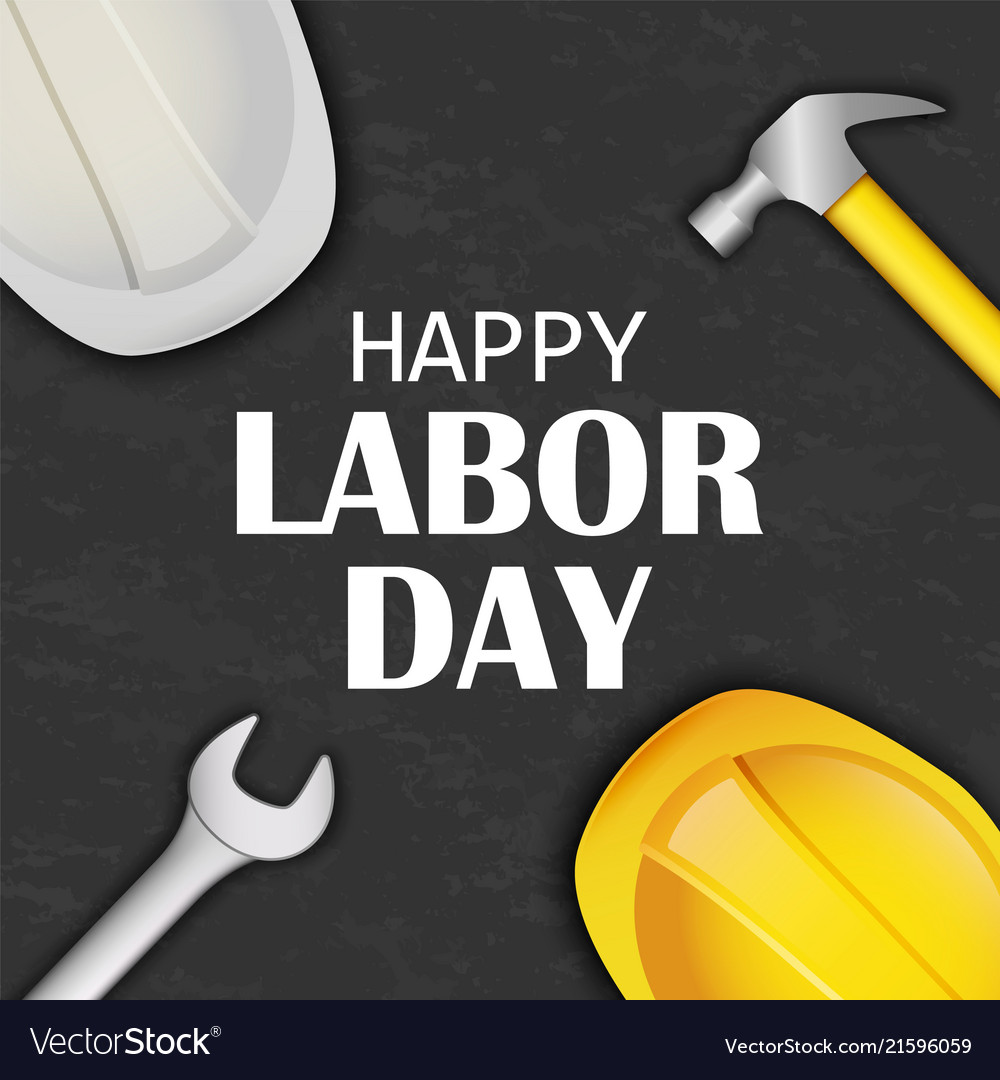 Happy labor day concept background realistic
