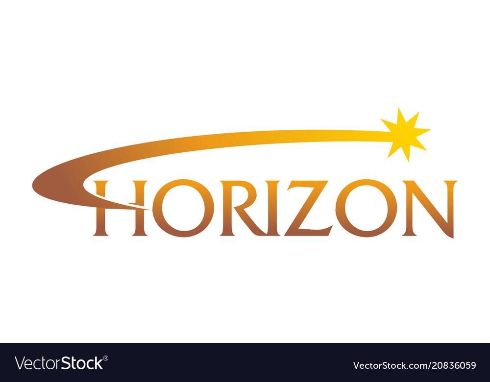 Horizon solutions logo design template