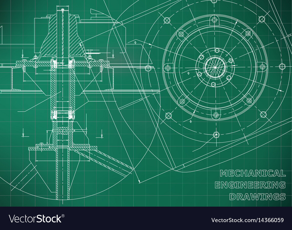 Engineering Schematic Background Wire Center Wow Schematics Mechanical Drawings Green Vector Image Rh Vectorstock Com Pet Recipes Industrial Symbols