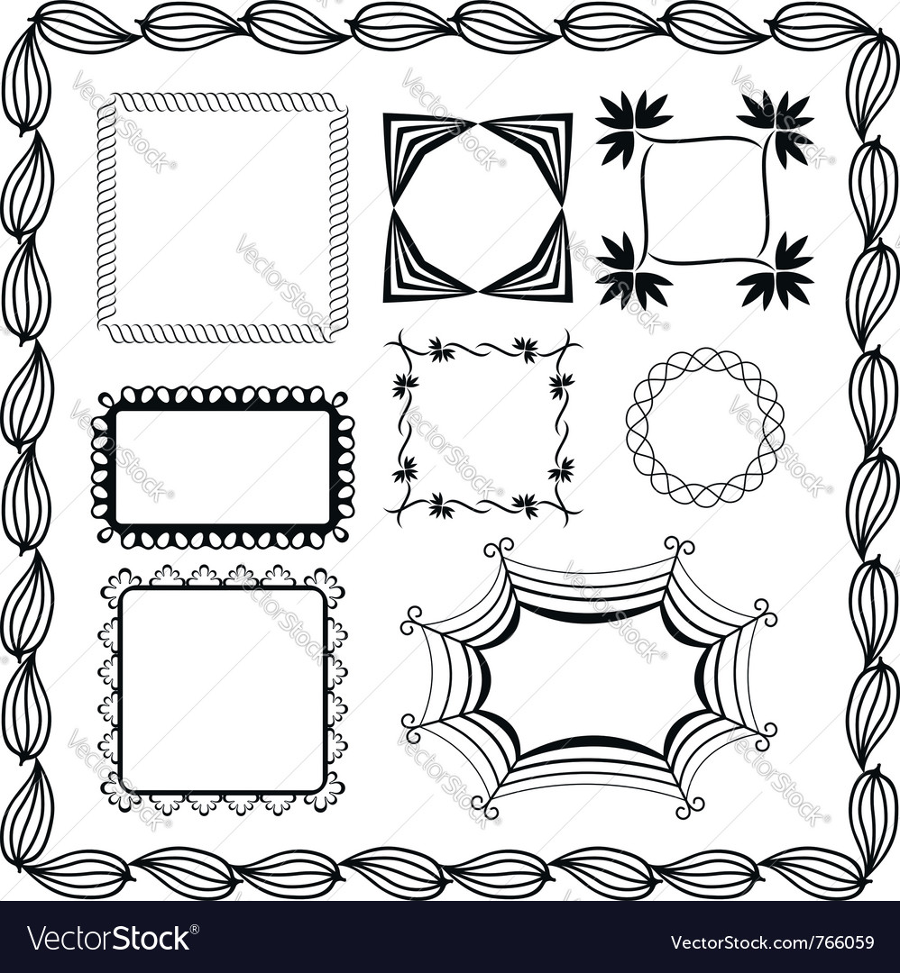 Set of graphic frames Royalty Free Vector Image