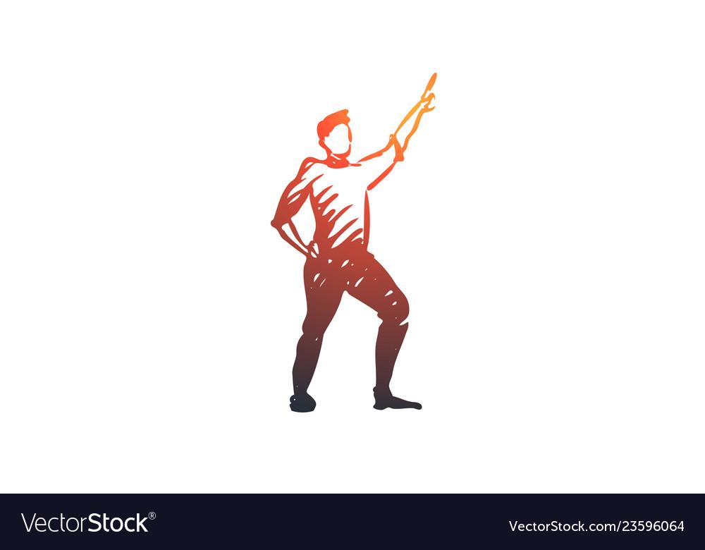 Dancing guy fun party disco concept hand
