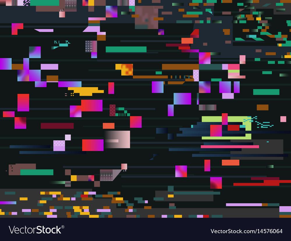 Digital glitch screen effect glitched video