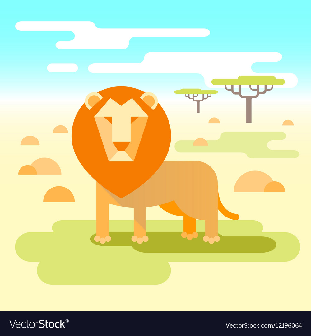 Lion - king of the savannah vector image
