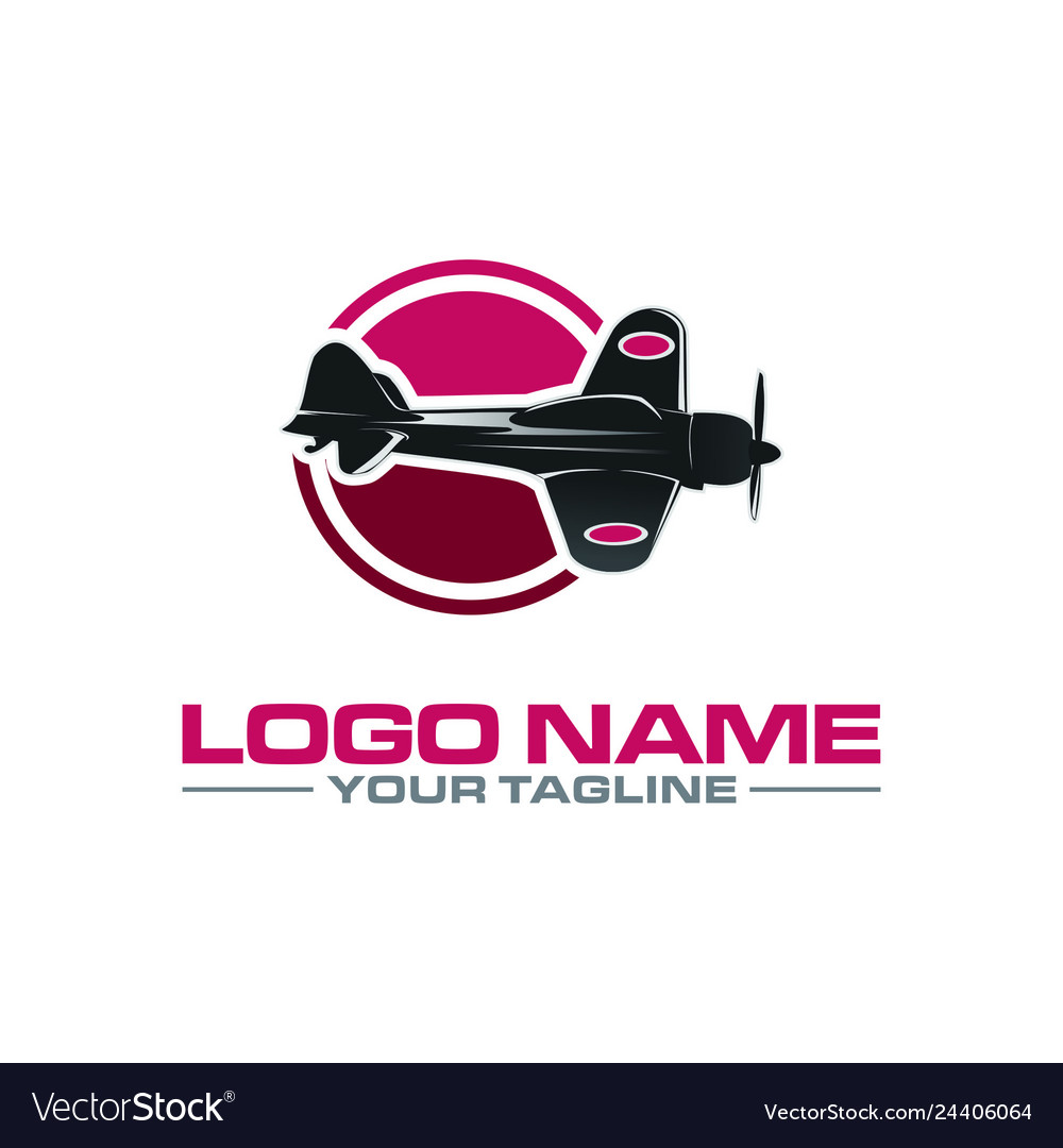 War aircraft logo vector