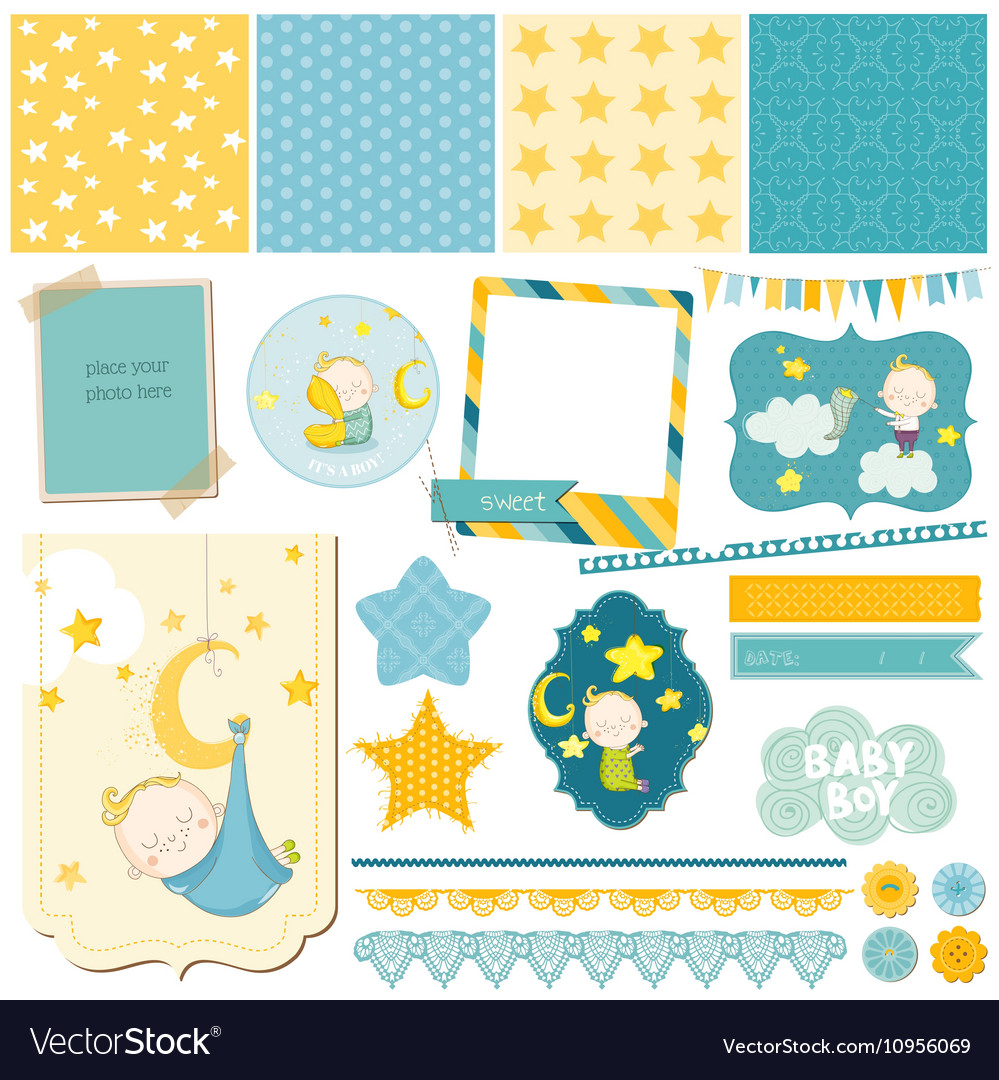 Baby Boy Sleeping Theme - for Party Scrapbook