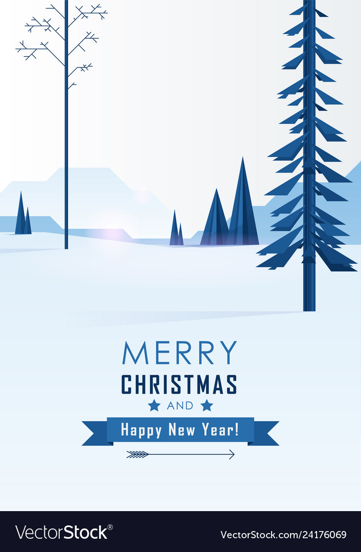 Christmas greeting card merry xmas and happy new