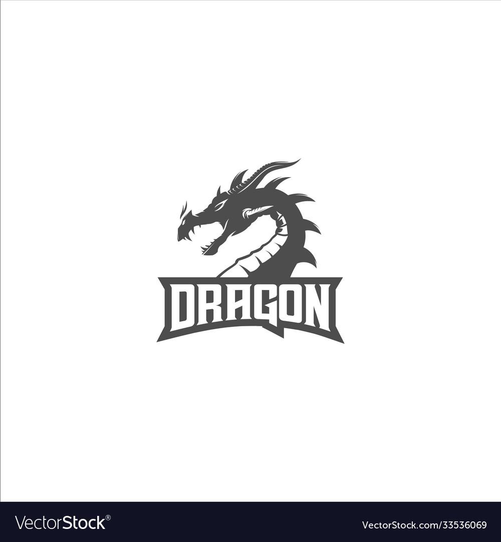 Dragon silhouette logo