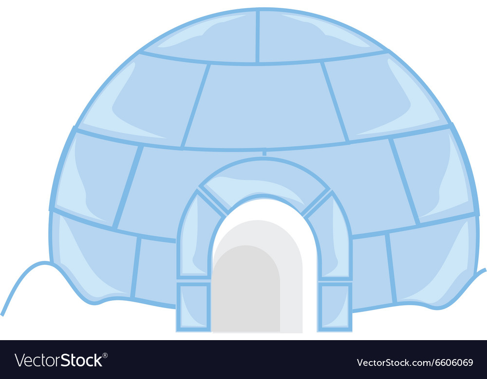 Ice house igloo vector image