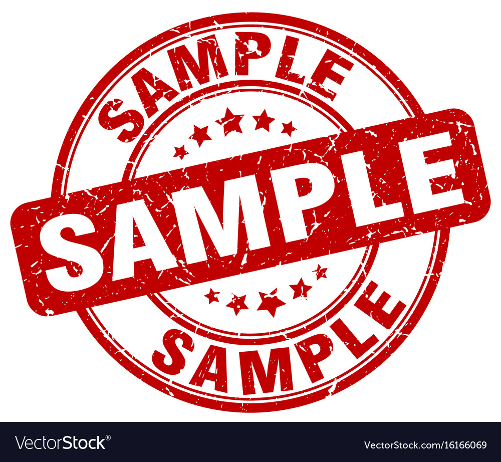 sample stamp royalty free vector image - vectorstock