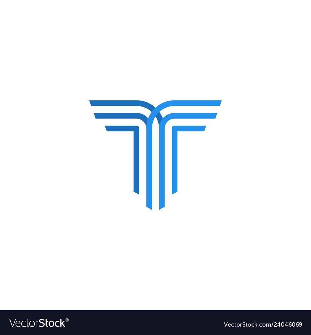 T letter logo icon