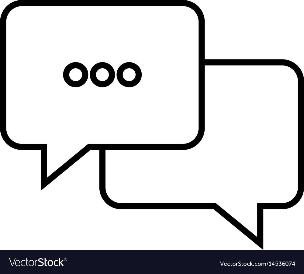 Bubble speech communication dialog talk outline