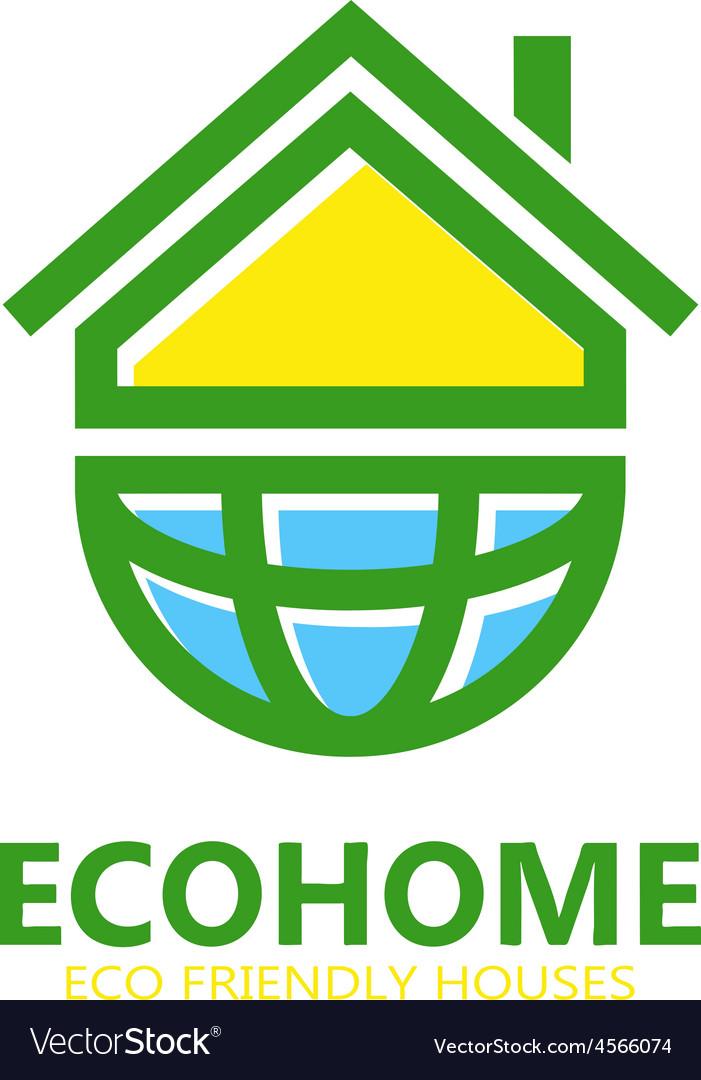 Eco house logo or symbol icon