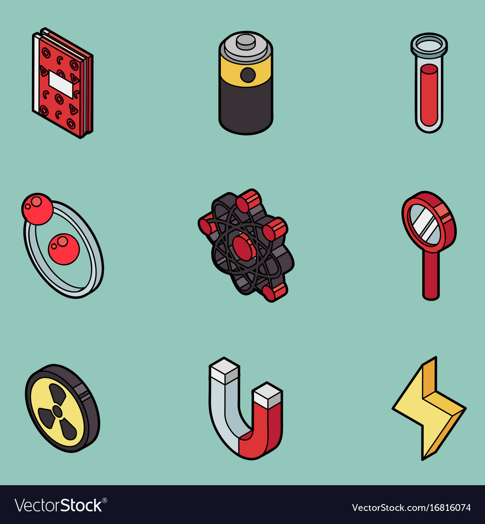Physics color outline isomeric icons