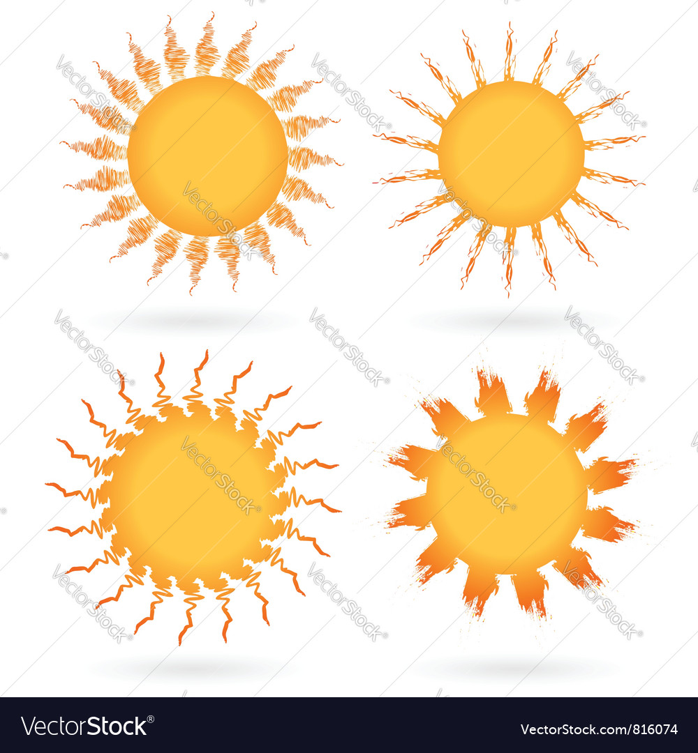 Set of abstract suns