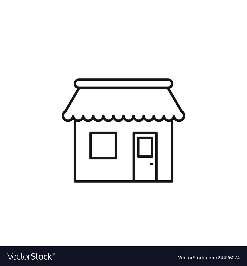 Shopping store icon marketing icon thin line