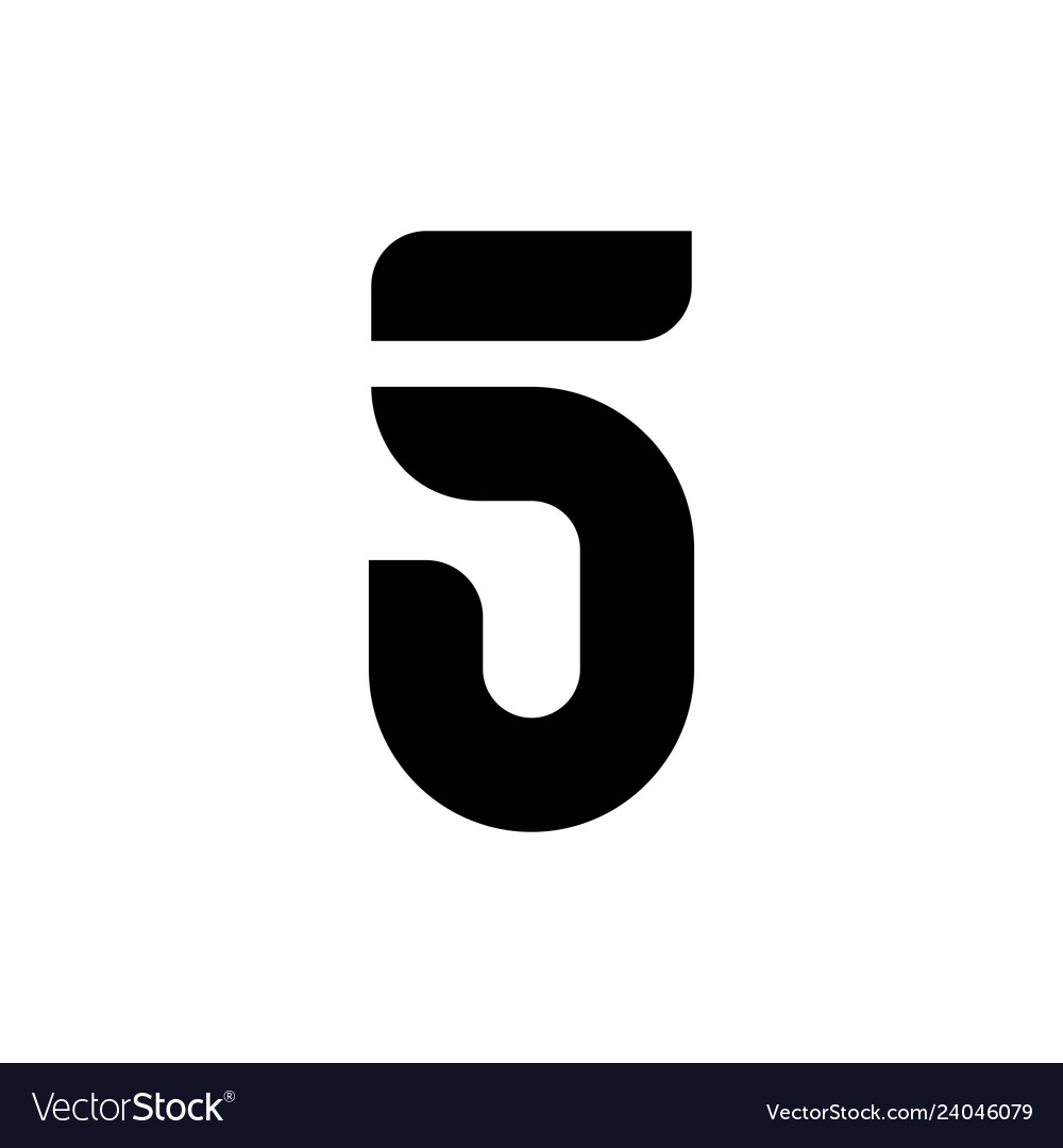 5 five number logo icon sign