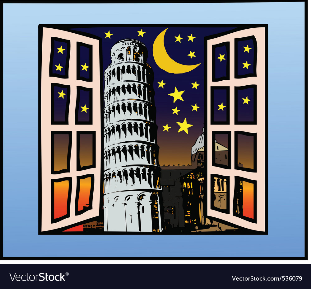 A window on the tower of pisa