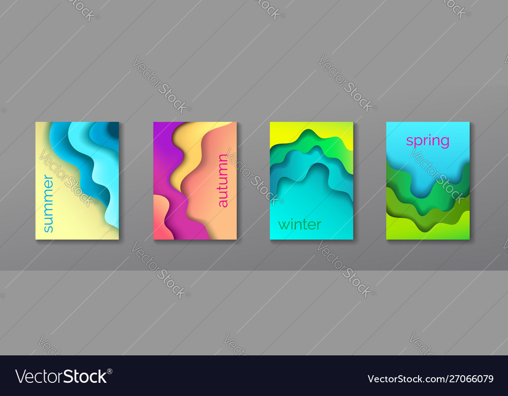 A4 abstract 4 color 3d paper art set