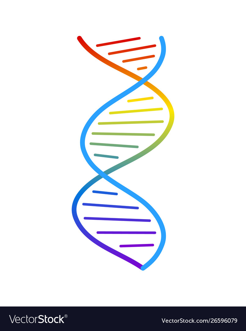 Abstract dna strand symbol isolated on white