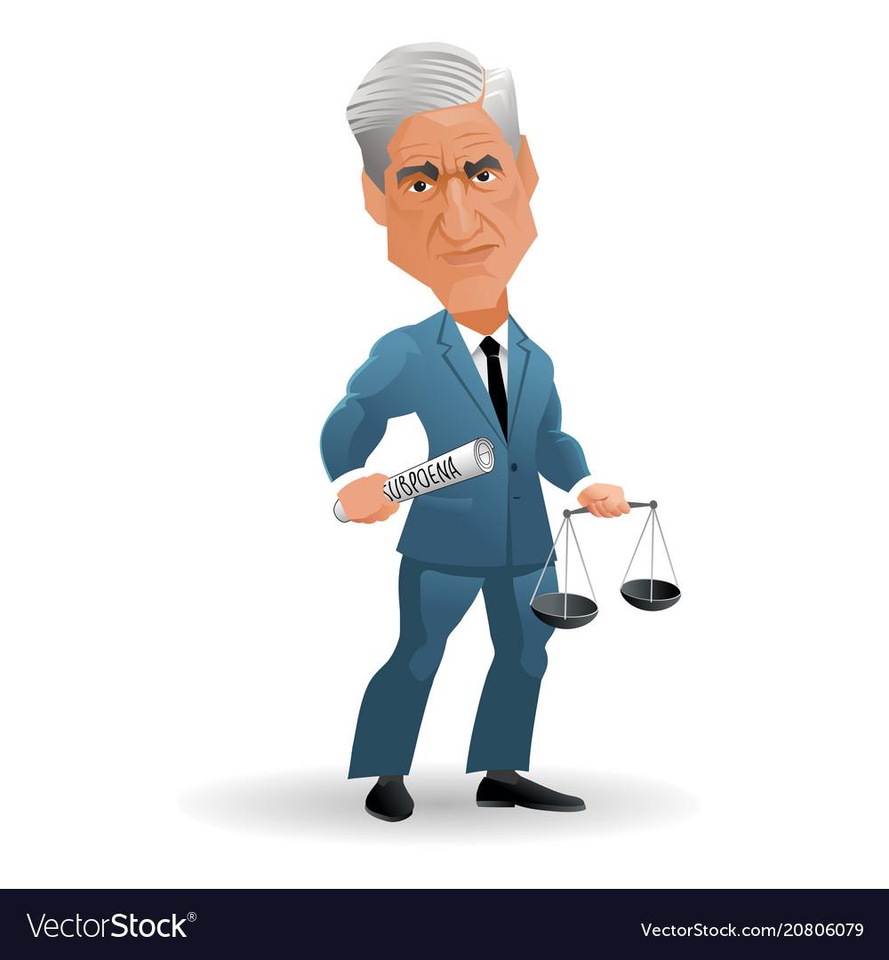 Caricature special counsel robert mueller
