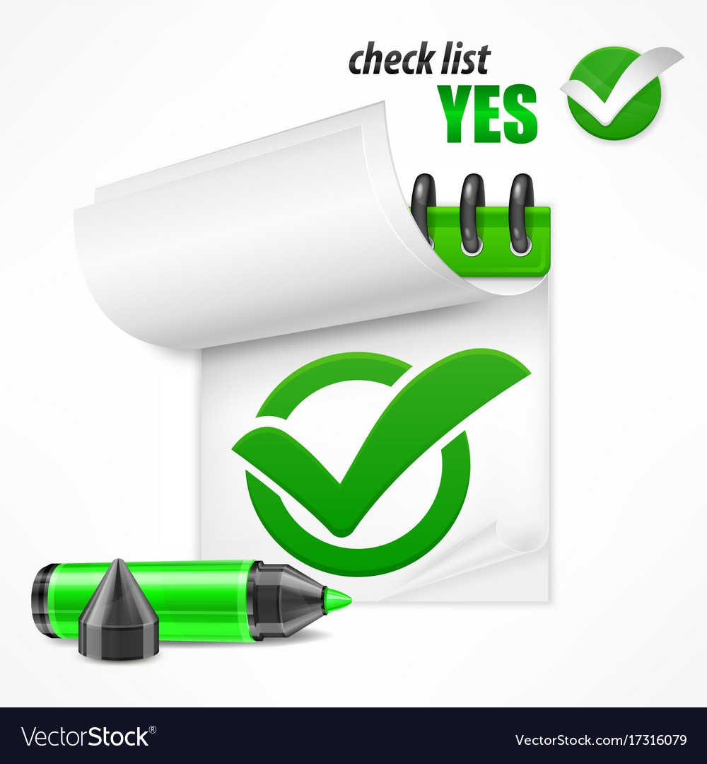 Checkmark on checklist