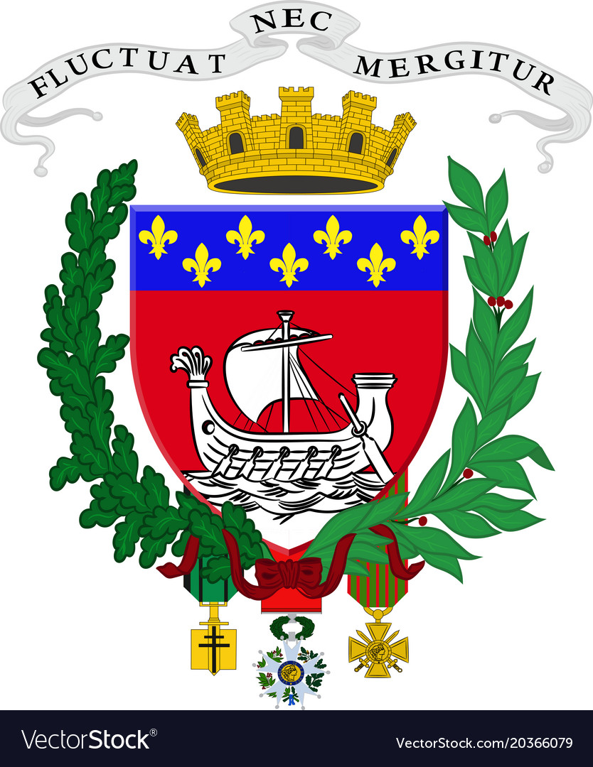 Coat of arms of paris france Royalty Free Vector Image