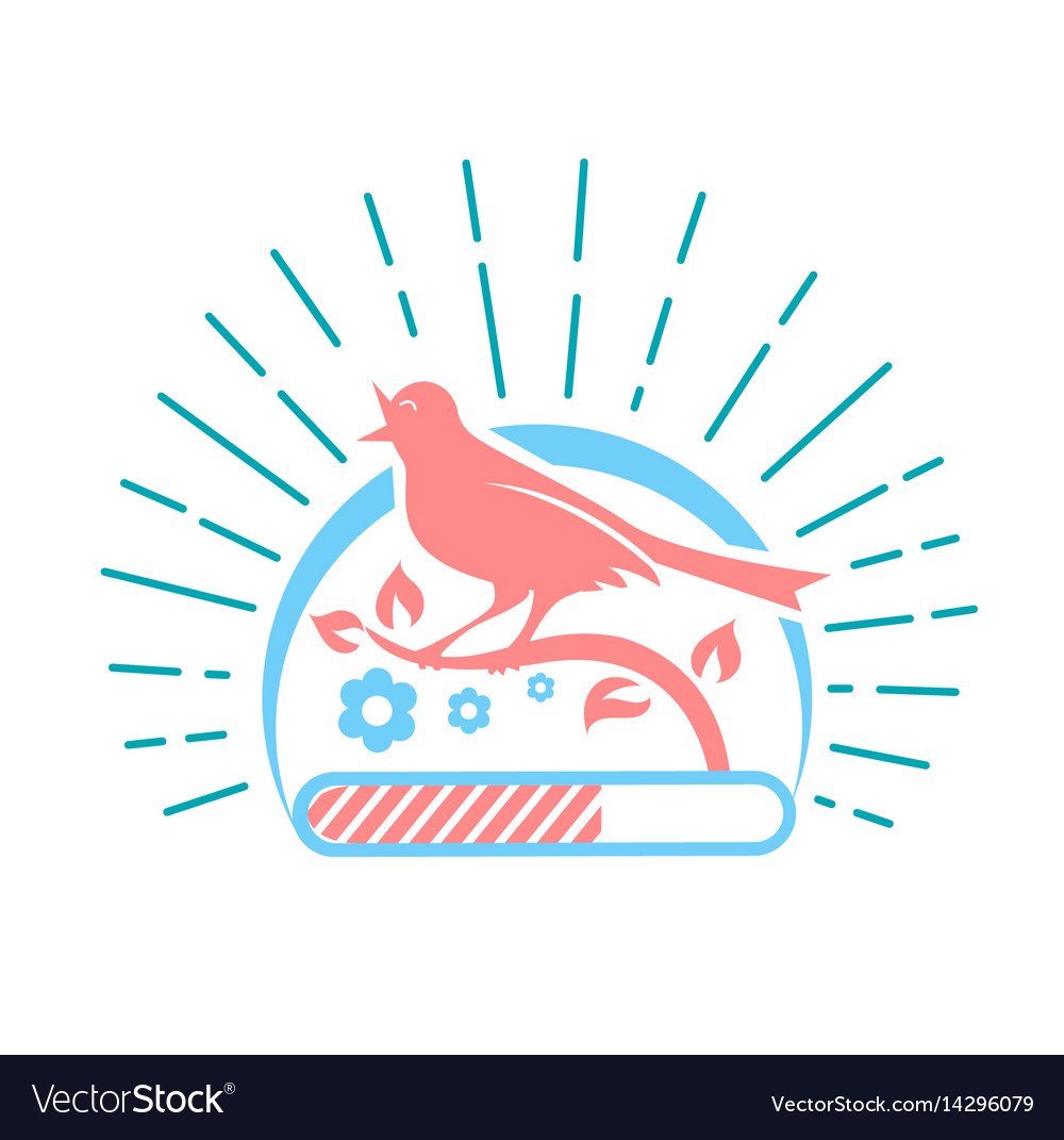 Downloads singing bird two colors vector image