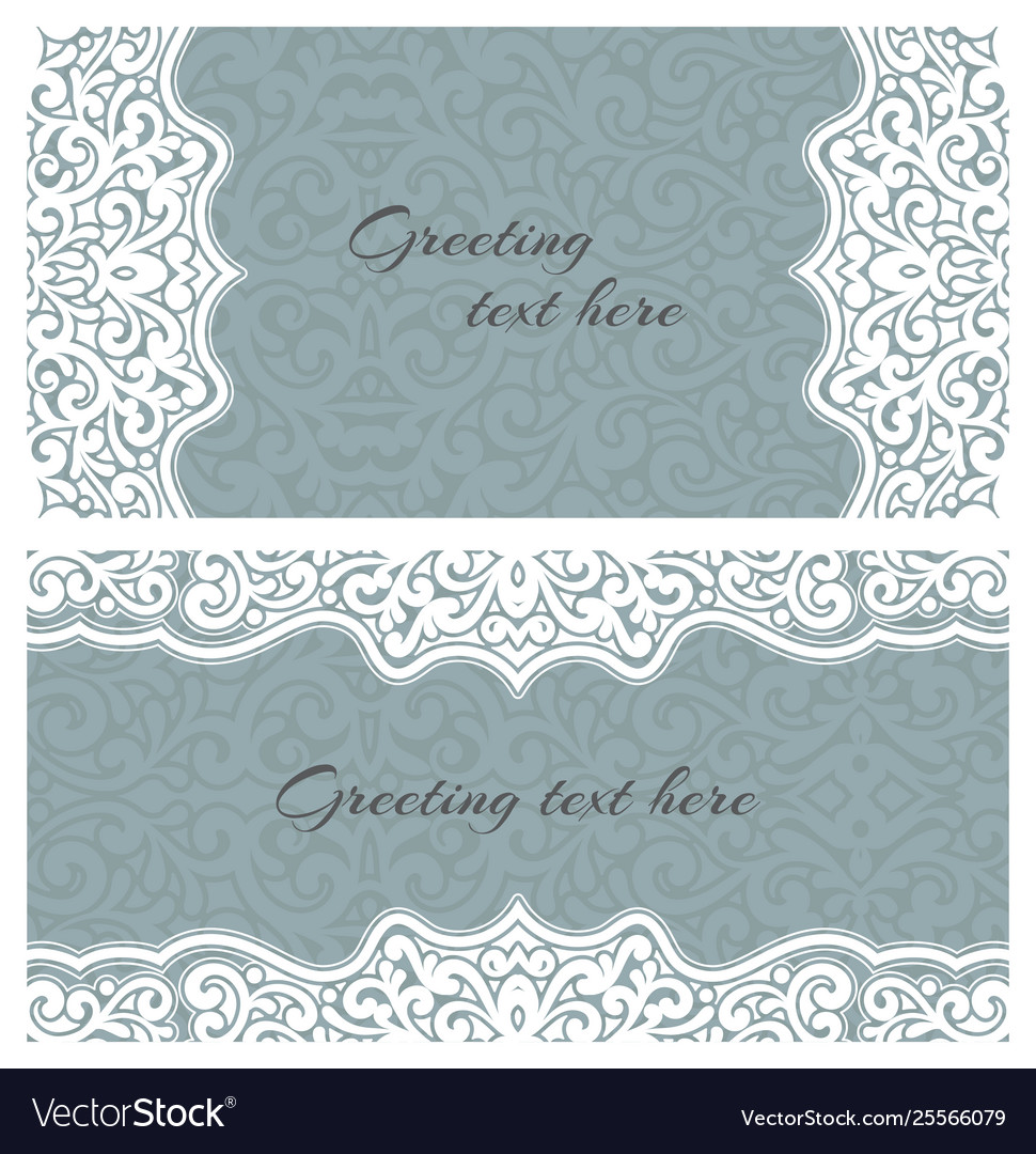 Elegant greeting vintage cards