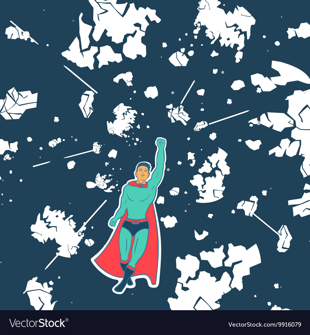 Hero Saves Planet vector image