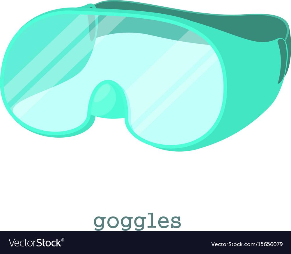 laboratory goggles icon cartoon style royalty free vector
