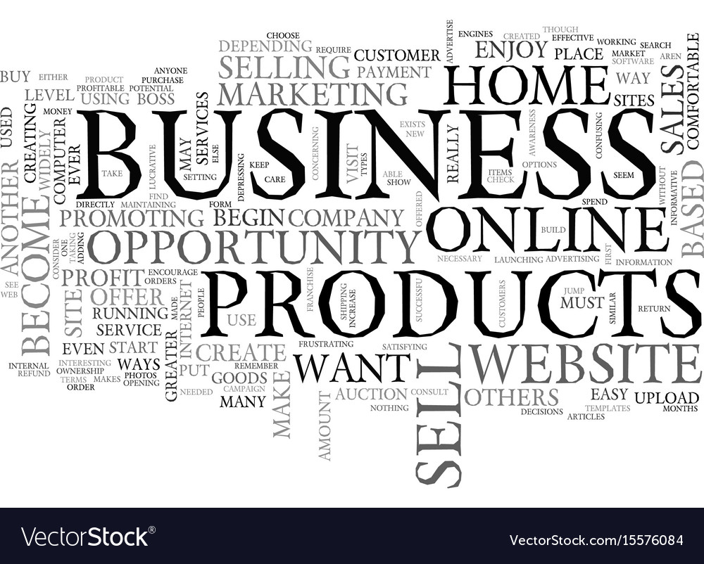 Best home based business opportunity text word Vector Image