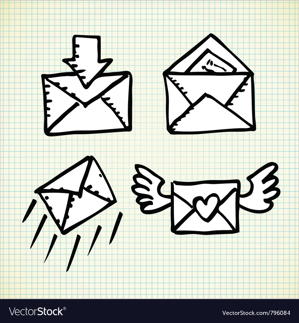 Email doodle icons