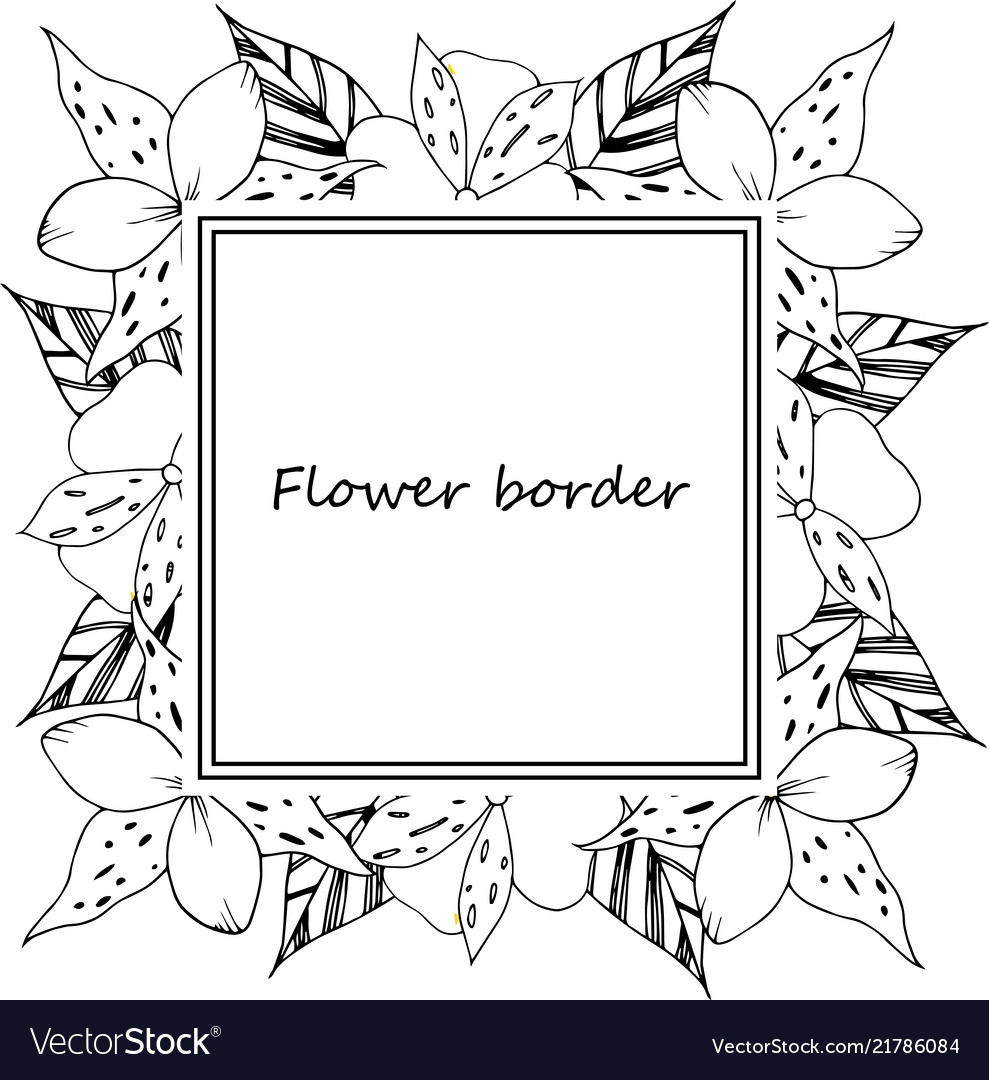 Flower drawing frame