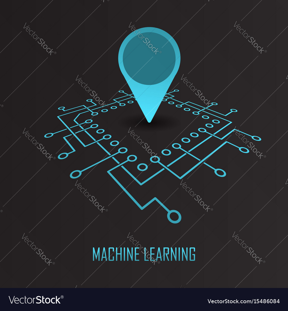 Machine Learning Geo Mark Royalty Free Vector Image