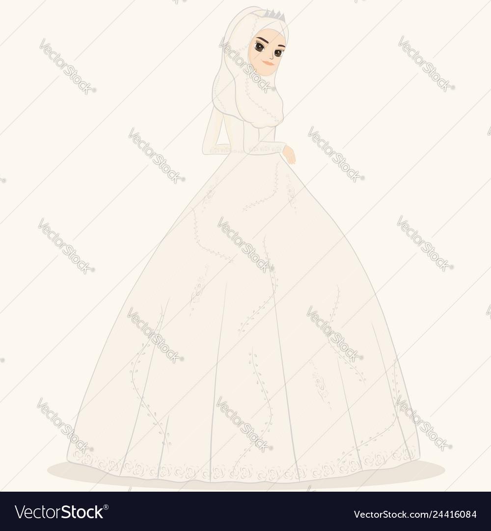 Muslim bride muslim wedding dress